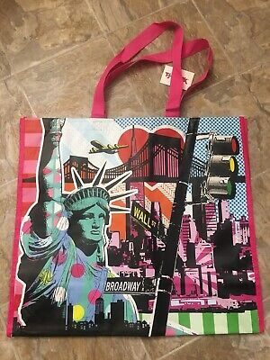 New TJ Maxx Reusable Shopping Bag New York City Broadway Wall St. Travel Tote