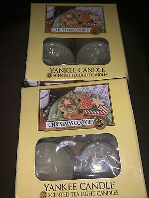 New Lot Of 21 Yankee Candle Christmas Cookie Scented Tealights