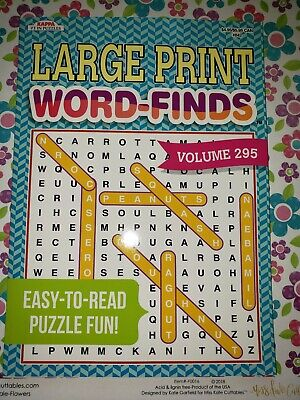 Large Print Word Finds Puzzle Books. KAPPA Puzzles vol. 295