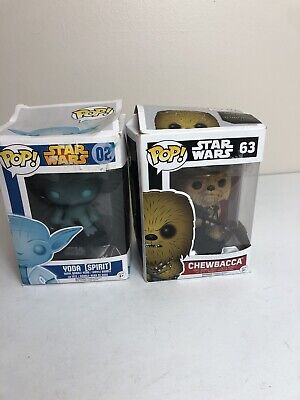 FUNKO POP LOT STAR WARS YODA SPIRIT 02 CHEWBACCA 63