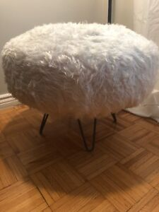 Faux Fur Table/Ottoman