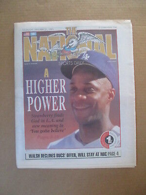 THE NATIONAL SPORTS DAILY NEWSPAPER DARRYL STRAWBERRY DODGERS 1/31 1991 for sale  Shipping to Ireland
