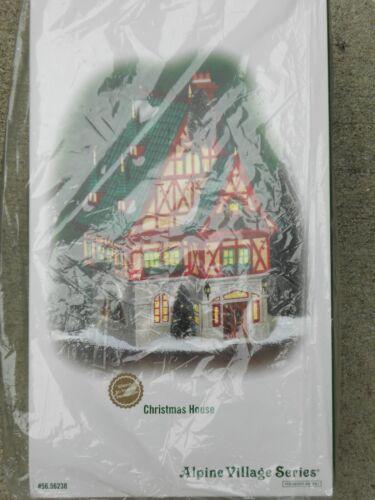 DEPT 56 ALPINE Village CHRISTMAS HOUSE NIB *Read*