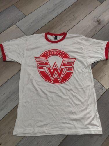 Weezer Red Seal Logo Vintage Ringer Style Band T-Shirt - Men