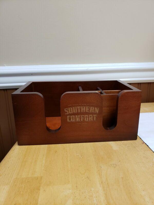 Southern Comfort Liqueur Wooden Napkin Holder Bar Caddy