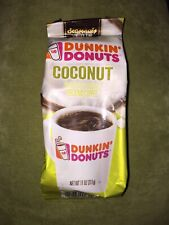 DUNKIN' DONUTS COCONUT GROUND COFFEE 11 OZ SEALED EXP NOV ...