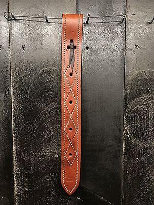 Heavy Duty Leather Off Side Billet Strap - Medium Oil / for Western Saddle