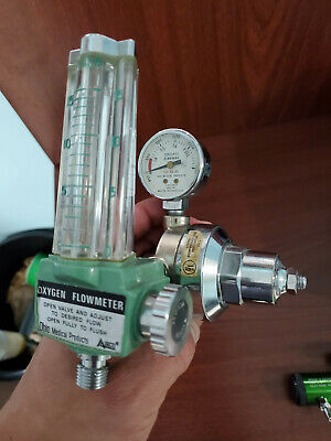 Lot Amico Oxygen Flowmeter Regulator Roscoe Medical