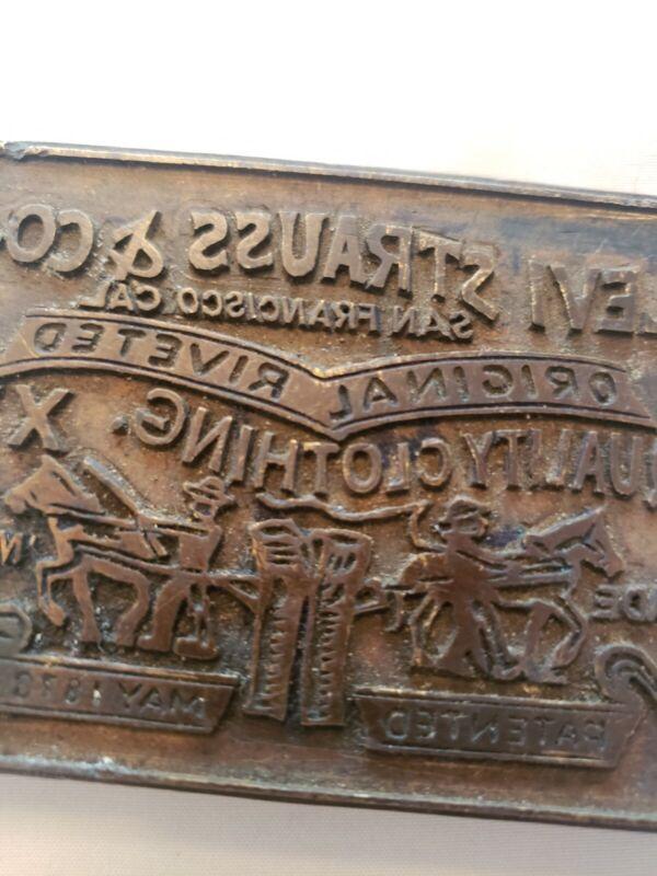 Original Levi Strauss & company printing plate. Cliche technique patented 1873