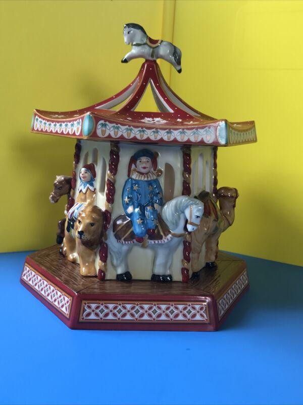 Villeroy & Boch Christmas Toys Carousel/ Merry Go Round Votive/tealight Holder
