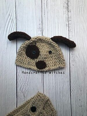 Handmade Puppy Outfit, Crochet baby outfit , newborn Photography Prop, costume