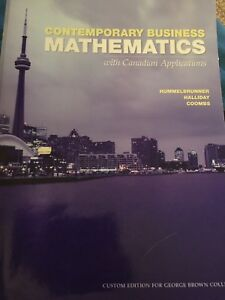 Contemporary Business Mathematics textbook