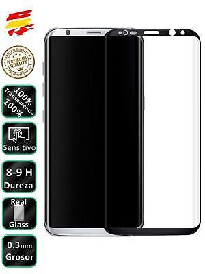 Protector de Pantalla para Galaxy S8 Negro Completo Cristal Templado Curvo 3D