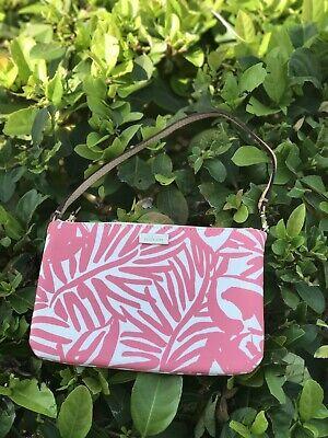 NWT Kate Spade Grant Street Grainy Vinyl Lolly Wristlet Pnyplmorcd Pink Chalk
