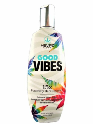 Hempz Good Vibes 15X Dark Bronzer Indoor Tanning Bed Lotion