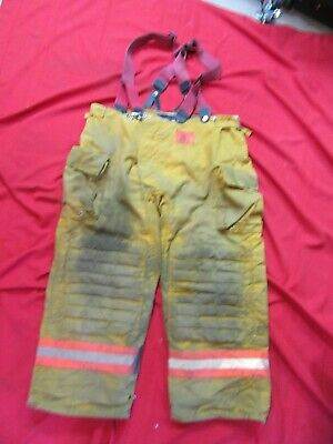 Morning Pride Firefighter Turnout Bunker Pants 44 X 28 Fire Gear Suspenders