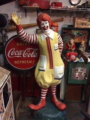 Vintage 1960's Life Size 7 Foot Ronald McDonald Statue Figure Playground Rare