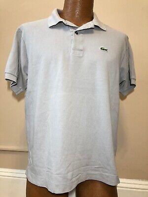 Lacoste Alligator Logo Short Sleeve Golf Polo Shirt Size 5 Men's Medium Gray