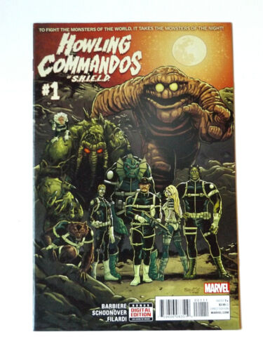 MARVEL COMICS 2015 HOWLING COMMANDOS OF SHIELD #1 1ST APPEARANCE GLYPH HULU TV