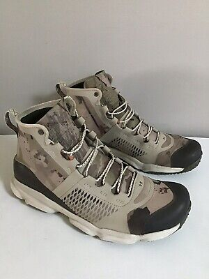 Under Armour Speedfit Hike Mid Boots 1257447-951 Beige Camo Size 10.5 Pre -Owned