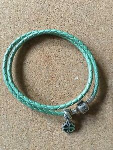 Pandora braided leather bracelet. Manoora Clare Area Preview