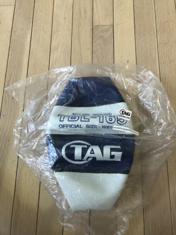 NEW Tag Nylon - Wound Official Size Blue & White Basketball