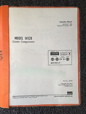 Electro Scientific Industries Model 1412b Limits Comparator Instruction Manual