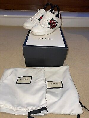 Gucci New Ace Snake Sneaker Uk Size 5.5 Used Box Included Dust Bags