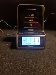 iHome iPhone/iPad/iPod AM/FM Radio Alarm Clock Charging Station EUC