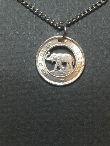 Elephant Cut Coin Pendant form Liberia
