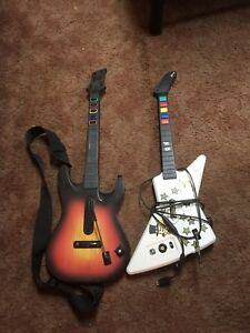 Xbox guitar hero guitars