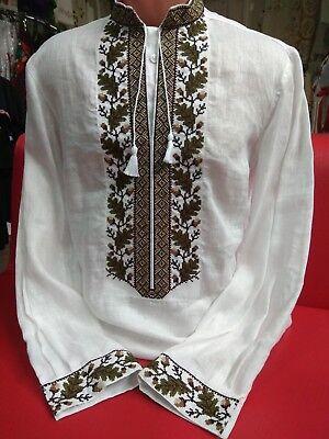 Ukrainian Men's Embroidered Shirt Vyshyvanka embroidery
