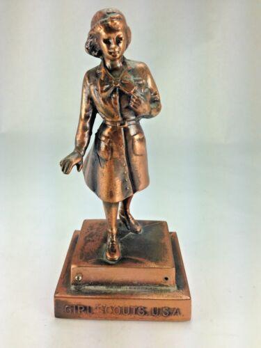 MARJORIE DANGERFIELD SOLID COPPER GIRL SCOUT FIGURINE CIRCA 1953