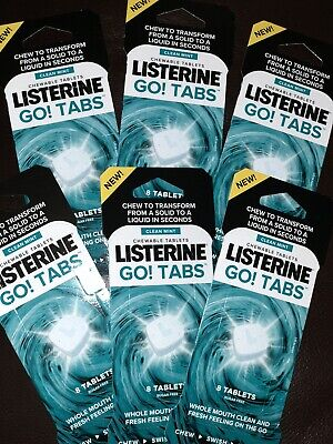 6 Packs, 48 Listerine Go Tabs - Instantly Freshens Your Breath -...