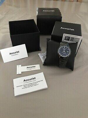 mens accurist Ceramic  watch