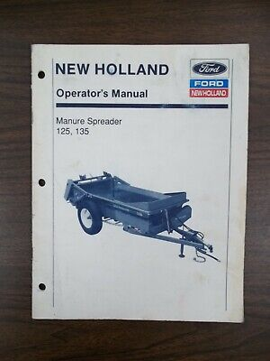 New Holland 125 And 135 Manure Spreader Owners Manual
