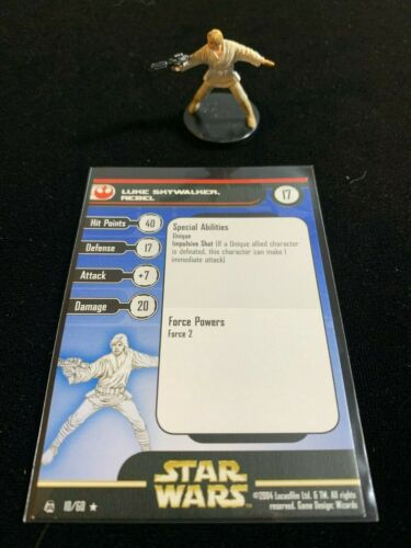 Star Wars Miniatures Rebel Storm #10 Luke Skywalker, Rebel with Card