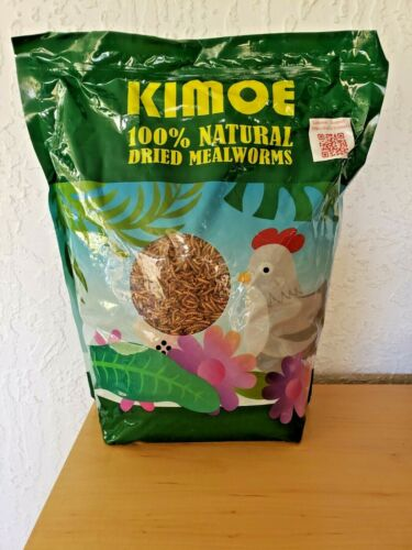 Kimoe 100% Natural Dried Mealworms for Chickens, birds and Ducks - 5lbs