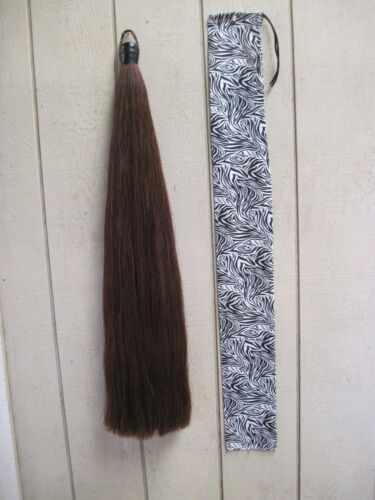 New Dark Chestnut 1lb Tail Extension by KATHYS TAILS Free bag AQHA APHA PtHA FEI