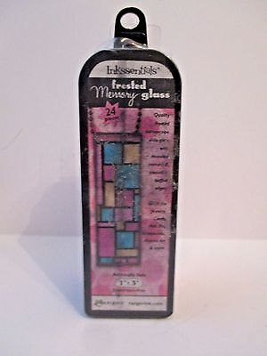 (Ranger Ink Inkssentials Jewelry Frosted Memory Glass 1 X 3 Mixed Media FREE SHIP)