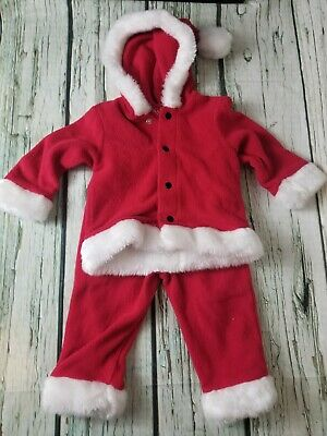 Childrens Santa Outfits (Christmas Santa Toddler Outfit 18 months red kids elf)