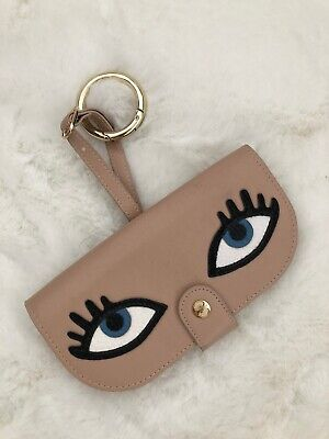 Iphoria SUNNY TIMES - Sunglass Etui bag charm veggie leather with eyes pink