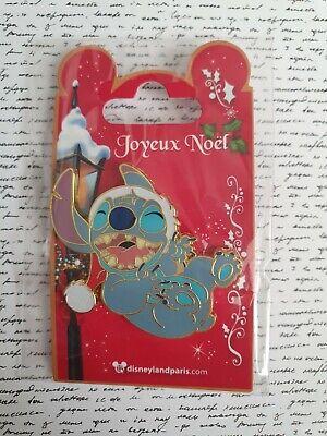 Disneyland Paris Exclusive Authentic Stitch Christmas Pin Lilo & Stitch Pins