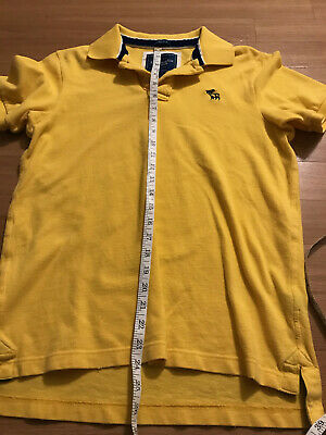 Abercrombie & Fitch New York Yellow Muscle Polo Men's Size Medium Moose Logo