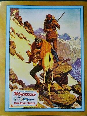 Winchester Repeating Arms. Co Advertising Poster, Ralph Crosby Smith artist