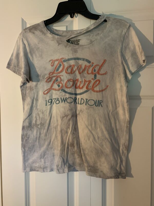 Bowie T Shirt David Bowie Size Small Acid Wash