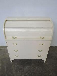D11031 White French Style Queen Anne Roll Top Desk Drawers Mount Barker Mount Barker Area Preview