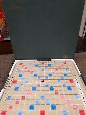 Vtg 1977 Scrabble Deluxe Edition Turntable Game S&R Games Complete W/ Dictionary