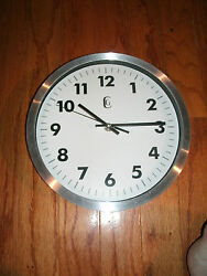 GENEVA CLOCK CO WALL CLOCK - New - 10 with Aluminum Sides