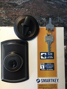 WEISER Single Cylinder Deadbolt - Antique
